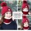 หมวกไหมพรม&ผ้าพันคอ 3in1 บุเฟอร์ด้านใน #3 thumbnail 7