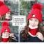 หมวกไหมพรม&ผ้าพันคอ 3in1 บุเฟอร์ด้านใน #3 thumbnail 8