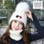 หมวกไหมพรม&ผ้าพันคอ 3in1 บุเฟอร์ด้านใน #3 thumbnail 5
