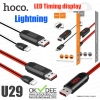 Hoco U29 LED Timing display Lightning charging cable