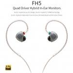 FiiO FH5 หูฟัง hybrid 4 ไดร์เวอร์ (3BAs+1DD) ระดับ Hi-Res ถอดสายได้