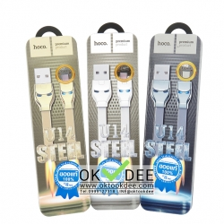 Hoco U14 Steel man Micro USB Charging cable 1.2M