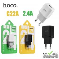 Hoco C22A ที่ชาร์จไฟโทรศัพท์ 2.4A 1 USB