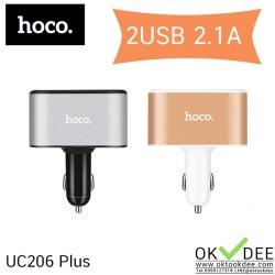 Hoco UC206 Plus USB CAR CHARGER หัวชาร์จไฟในรถ