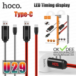Hoco U29 LED Timing display Type C charging cable