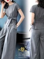 เสื้อผ้าเกาหลี พร้อมส่ง ชุดเซท เสื้อ+กางเกง