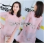 เดรสเกาหลี พร้อมส่ง ชุดเดรส ทรงกี่เพ้าผ้าชีฟองสีโอลโรส thumbnail 5