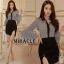 เสื้อผ้าเกาหลี พร้อมส่ง ชุดเซ็ต เสื้อ + กระโปรง thumbnail 3