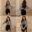 เสื้อผ้าเกาหลี พร้อมส่ง ชุดเซ็ต เสื้อ + กระโปรง thumbnail 4
