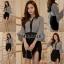 เสื้อผ้าเกาหลี พร้อมส่ง ชุดเซ็ต เสื้อ + กระโปรง thumbnail 1