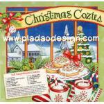กระดาษสาพิมพ์ลาย สำหรับทำงาน เดคูพาจ Decoupage แนวภาำพ คริสต์มาสอุ่นๆ Christmas Cozies กับ สูตรทำคุ๊กกี้ Soft Gingerbread Cookies สีสด (ปลาดาวดีไซน์) A5