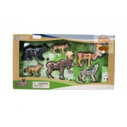 SHP/WNA06001 โมเดล สัตว์จำลอง North America สัตว์อเมริกาเหนือ 6ชิ้น