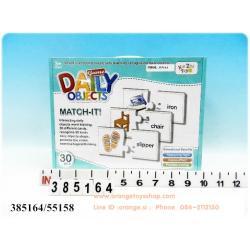 Match it -- > เกมส์จับคู่ แผ่นภาพ คำศัพท์ ของใช้ในชีวิตประจำวัน