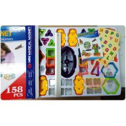 (Magical Magnet) ชุดตัวต่อแม่เหล็ก ชุดแม่เหล็กกล่องใหญ่ 158 ชิ้น