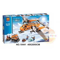 DIY BLOCK บล๊อกตัวต่อ 391 ชิ้น โมเดลจำลองเครื่องบิน สร้างเมือง City building bricks technic Arctic Supply Plane Model (6-12 ปี)