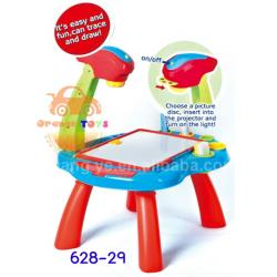โต๊ะ Projector Desk Learning Easel All in 1 Multi-function Learning Desk With Kids Projector Lamp