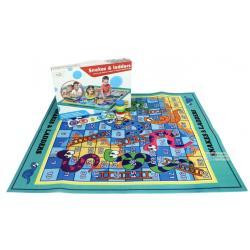 ( เกมส์ฝึกสมอง ) PLAY MAT เกมส์บันไดงู เกมส์บันไดงู แบบกระดานผ้า
