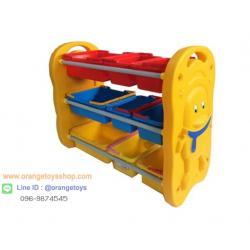 ชั้นวางของ ที่เก็บของเล่นเด็ก ชั้นวางของตะกร้าเพนกวิน 9 ช่อง
