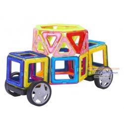 (Magical Magnet) ชุดบล็อค ตัวต่อแม่เหล็ก 71 ชิ้น Magnetic Magnet 71 pcs--Magic DIY colorful Transform toy education toy