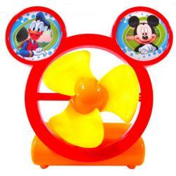 พัดลมตั้งโต๊ะมิกกี้เมาส์ สีแดง เหลือง