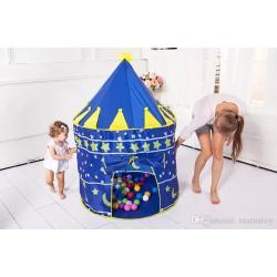 (บ้านบอลเด็ก) เต็นท์โดม สีน้ำเงิน แบบใหม่ เต้นท์เด็ก เต้นท์ปราสาทเจ้าชาย สีนำ้เงิน
