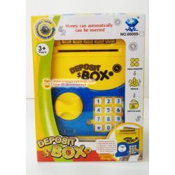 ตู้ ATM สำหรับเด็ก ตู้เซฟ ออมสิน ATM ตู้เซฟดูดแบงค์ กระปุกออมสิน มินิ เอทีเอ็ม (กระปุกออมสิน) Mini ATM สีเหลือง