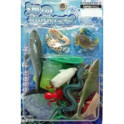 ชุดสัตว์น้ำ 18 ชิ้นแพ็คญี่ปุ่น (B0101)