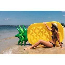 แพยางเป่าลม แพยางเล่นน้ำ สับปะรด Pineapple pool float ขนาด 180*90 เซนติเมตร