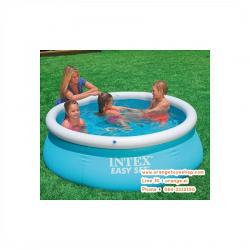 ( ขนาด 6 ฟุต ) Intex สระว่ายน้ำ Easy Set Pool ขนาด 1.8 เมตร รุ่น 28101 - Blue