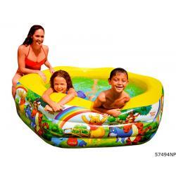 สระน้ำเด็ก winnie The Pooh Deluxe Pool ขนาด 75''X70''X24' รุ่น 57494NP