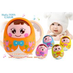 Huile Toys ของเล่นเด็กอ่อน ตุ๊กตาล้มลุก น้องไข่ (คละสี) ***1 ตัว***