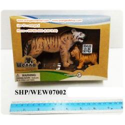SHD/WEW07002 โมเดลเสือ 2 ชิ้น แบบกล่องใส