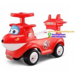 รถขาไถ รูปเครื่องบิน แสนสนุก สีแดง