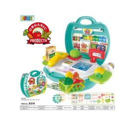 ชุดแคชเชียร์ กระเป๋าชายของ Dream The Suitcase Organic Products Play Set 23 ชิ้น