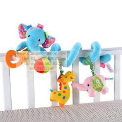 โมบาย สำหรับเด็ก JOLLY BABY ช้างน้อยสีฟ้า