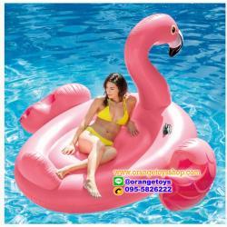 ห่วงยางแฟนซี แพยาง แพยางเป่าลม ฟามิงโก้ ตัวใหญ่ 2 เมตร สีชมพู รุ่น 56288 INTEX (Flamingo)