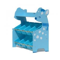 ชั้นวางของเล่นเด็ก ชั้นวางของอเนกประสงค์ ชั้นวางของกวางน้อย สีฟ้า , สีเหลือง แบบ 8 กล่อง