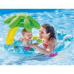 ห่วงยางเล่นน้ำ ห่วงยาง แม่-ลูก Intex 56590 My Baby and Mom Float First Swim