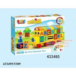 DIY BLOCK ชุดบล็อครถไฟ บล็อกตัวต่อรถ A-Z (My First Alphabet Bus)