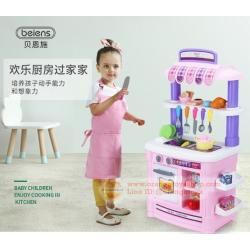 ชุดครัวของเล่น ชุดใหญ่ เตาระบบสัมผัส ก๊อกน้ำไหลได้จริง **สีเขียว สีชมพู**