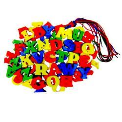 ชุดต่อร้อยเชือก ตัวภาษาอังกฤษ (Education Toys) ร้อยเชือกฝึกสมาธิ A-Z