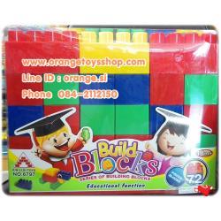 DIY BLOCK บล๊อกตัวต่อ ตัวใหญ่ จำนวน 72 ชิ้น หลากสี