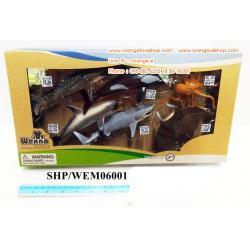 SHP/WEM06002 สัตว์ทะเล 6 ชิ้นกล่องใส