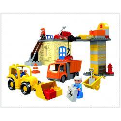 DIY BLOCK ชุดตัวต่อ ลานก่อสร้าง พร้อมรถก่อสร้าง ***HG1274***