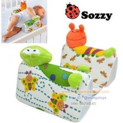 ที่นอนเด็กทารก ที่นอนจัดท่าเด็กอ่อน sozzy หมอนจัดท่านอน *** ส่งฟรีลงทะเบียน *** ลายกบ