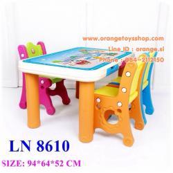 โต๊ะเขียนหนังสือ หรือโต๊ะอเนกประสงค์ สำหรับเด็ก แบบ 3 ที่นั่ง