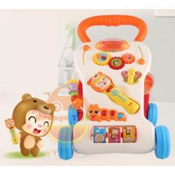 รถผลักเดินกิจกรรม รถผลักเดิน คฑา ดนตรี (ปรับหนืดได้) สีส้ม