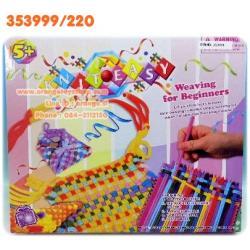 ชุดถักนิตติง กระเป๋าเล็ก สำหรับเด็ก พร้อมอุปกรณ์ ในกล่อง ของเล่น DIY