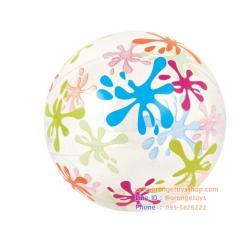 (ขนาด 24 นิ้ว) Bestway ลูกบอลชายหาด แบบใส คละลาย Designer Beach Ball