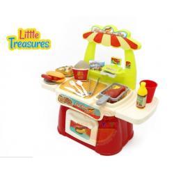 ชุดอาหารจานด่วน คุณหนู ฟาสต์ฟู้ดพิซซ่า Mini Fast food Shop 23 ชิ้น